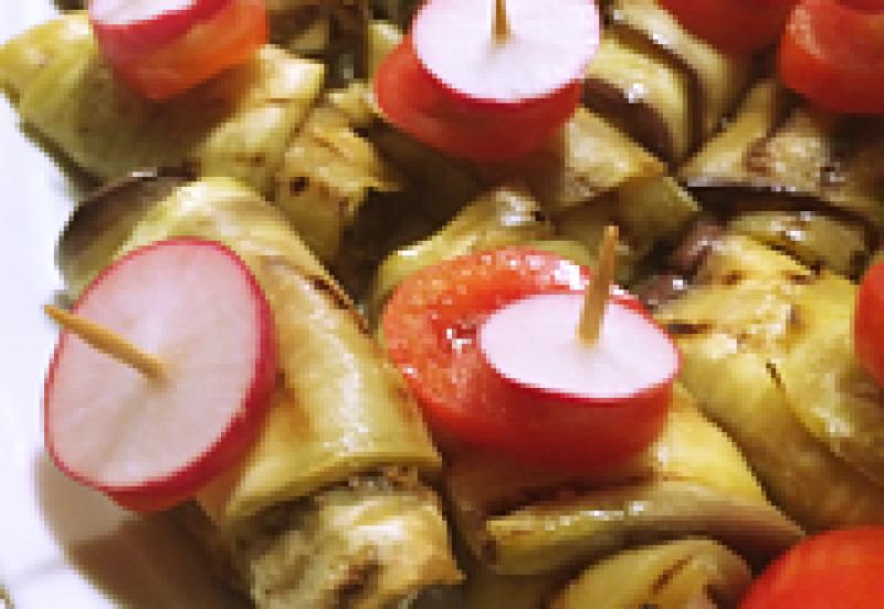 Orientalisches Fingerfood und Canapé