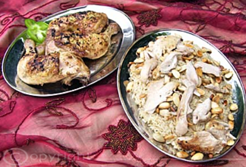 Arabischer Geflügelteller