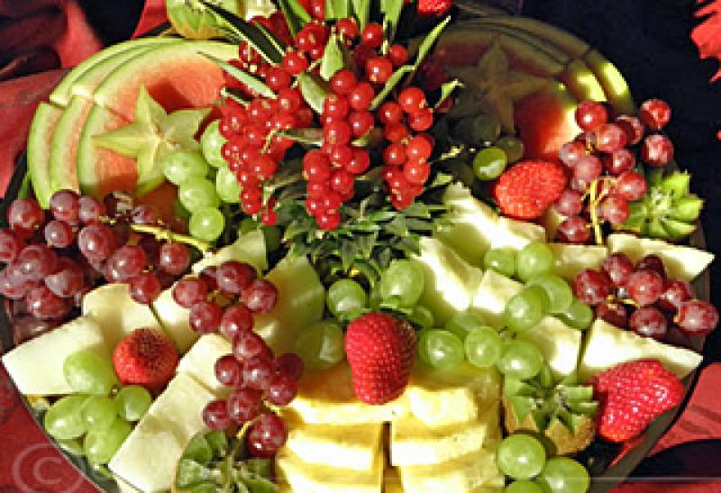 Orientalische Fruchtplatte